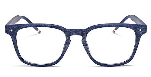 de GLASSES Adulto,Estilo Lente Gafas Hombres transparente Sol Retro Unisex Mujeres amp;L Gafas,Gafas Para J Blue vTqwO5Aw