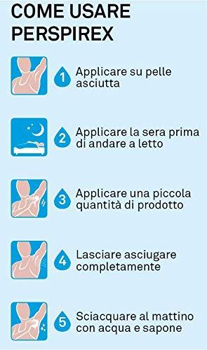Perspirex Anti Schweiß Antitranspirant Hand und Füßdeo gegen starkes Schwitzen - Füßcreme für bis zu 3 Tage Frischeschutz - 100ml