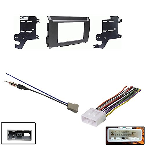 Metra 95-7631B Double DIN Dash Kit for 2016-UP Nissan Titan & XD Aftermarket Antenna to Cable Adapter