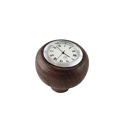 - MACs Auto Parts 28-24307 -39 Model A Transmission Gear Shift Knob With Quartz Clock Insert - Black Walnut