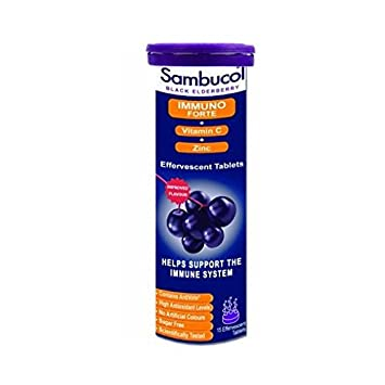 935ce5bd1409 Image Unavailable. Image not available for. Color  Sambucol Black Elderberry  Liqu Immuno Forte Effervescent Tablets ...