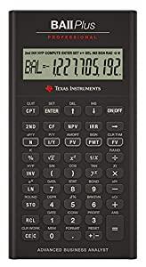 texas instruments ba ii plus professional financial calculator office products