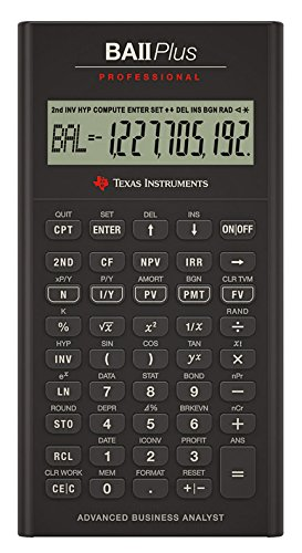 Texas Instruments BA II Plus Professional Financial Calculator (IIBAPRO/TBL/1L1)