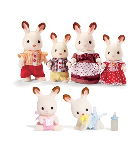 Calico Critters Hopscotch Rabbit Family with Additional Baby Twins