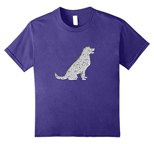 Price comparison product image Kids Musical Dog T Shirt Cute Musical Notes Music Dog T Shirt 8 Purple
