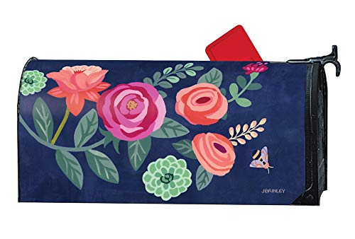 MailWraps Studio M Boho Flowers Decorative Spring Summer Floral, The Original Magnetic Mailbox Cover, Made in USA, Superior Weather Durability, Standard Size fits 6.5W x 19L Inch Mailbox