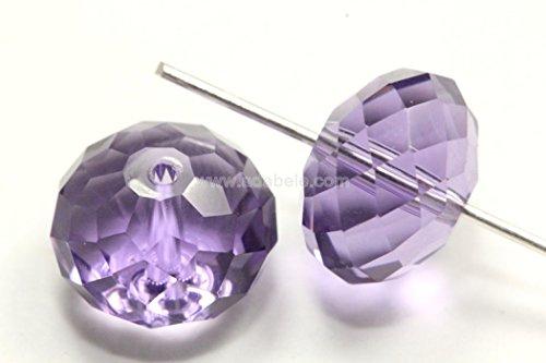 Tanzanite Crystal Bead - 50 10x8mm Adabele Austrian Rondelle Crystal Beads Tanzanite Rondelle Spacer Compatible with 5040 Swarovski Crystal Preciosa SS1R-1026
