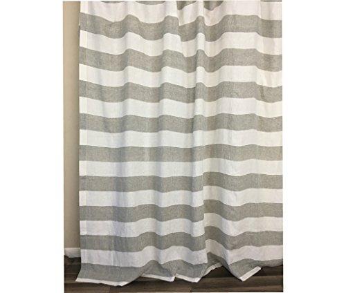 - Grey and White Cabana Striped Shower Curtain – Mildew-Free, 72x72, 72x85, 72x94. Bathroom Curtain, Bathroom Decor