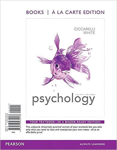Psychology Books A La Carte Edition 4th