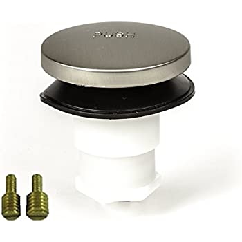 PF WaterWorks PF0935-BN Universal Touch (Tip Toe or Foot Actuated) Bathtub/Bath Tub Drain Stopper includes 3/8