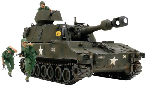 TAMIYA 37013 1/35 US Self-Propelled Howitzer M109 Vietnam - Propelled Howitzer Self
