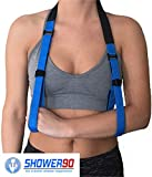 Shower90 Arm Sling for Shower Use. Medical Support Strap for Men and Women. Comfortable Arm Sling Designed to be Worn in The Shower and Easy to Use with One Hand.