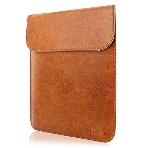 """All-inside 11-12"""" Laptop Sleeve for MacBook Air 11""""/ MacBook 12""""/ Surface Pro 6, Synthetic Leather, Brown"""