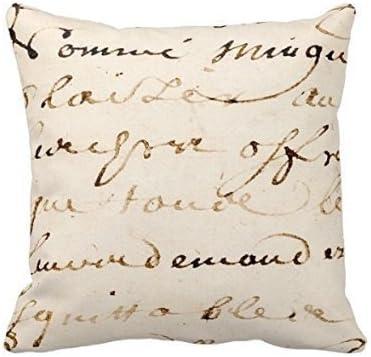 Cushion Cover Retro Letter Home Decor Cotton Linen Sofa Waist Throw Pillow Case
