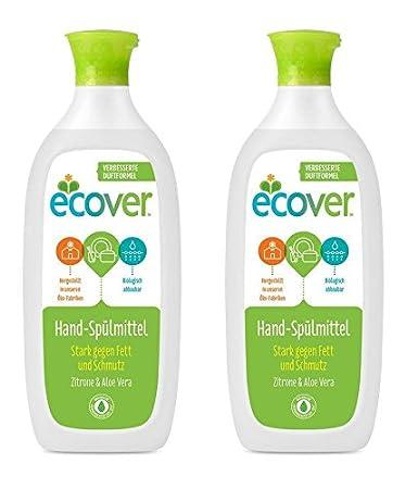 Ecover mano de lavavajillas Limón & Aloe Vera, ecológica Premium ...