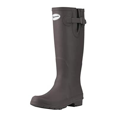 99ba736ad JOYCORN Women's Wellies Rain Boots Original Waterproof Knee-High,(Brown,6 B  M