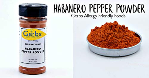 Marinade Spicy Butter (Habanero Pepper Powder by Gerbs - 3.75 oz. Shacker Jar - Top 12 Food Allergen Free - Gourmet Chef Grade)
