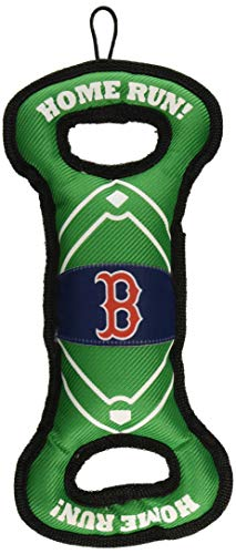 MLB BOSTON RED SOX Baseball Field Dog Toy with Double rim Stitching & Inner SQUEAKER