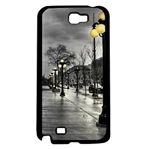 Paris Streets At Night Hard Snap on Phone Case (Note 2 II)