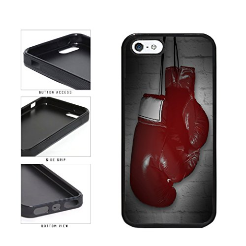 BleuReign(TM) Red Boxing Gloves On Brick Wall TPU RUBBER SILICONE Phone Case Back Cover Apple iPhone 5 5s and iPhone SE