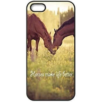 DIY Cover Case for iPhone 5,iPhone 5s w/ horse image at Hmh-xase (style 8)
