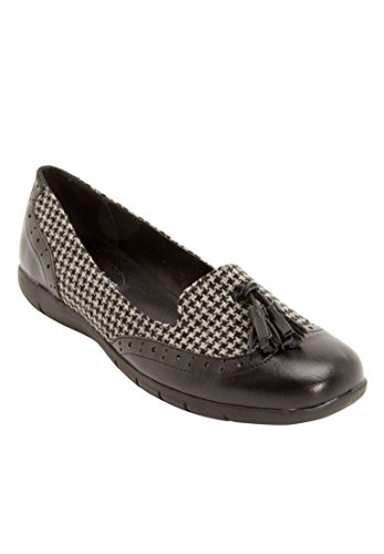 Comfortview Wide Aster Mocasines Energyflex Black Herringbone Para Mujer