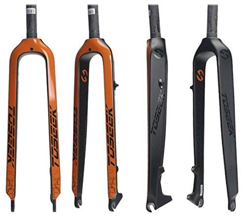 TOSEEKフルカーボンマウンテンバイクフォーク ストレートコラム ディスクブレーキ B078W1SGRH 27.5インチ|オレンジ オレンジ 27.5インチ