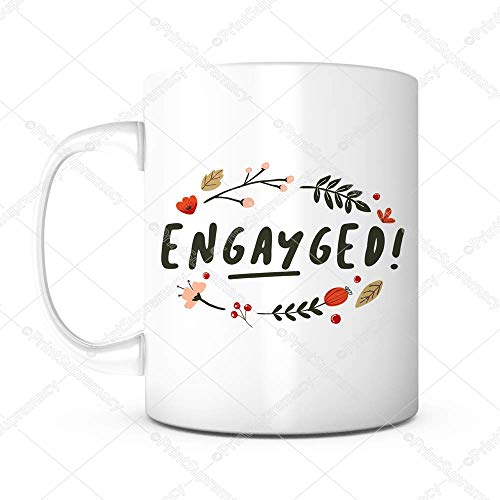 Engayged-Gay Marriage,Gay Wedding,Wedding Gift,LGBT Pride,Gay Couple,Engagement Gift,Wedding Mugs,Engagement Mug,Engagement Present,LGBT Mug,Marriage Gift,Lesbian Mug,Engagement Coffee Mug