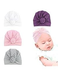 QtGirl Infant Turban Knot Headband Soft Head Wraps for Baby Girls Newborn Toddlers