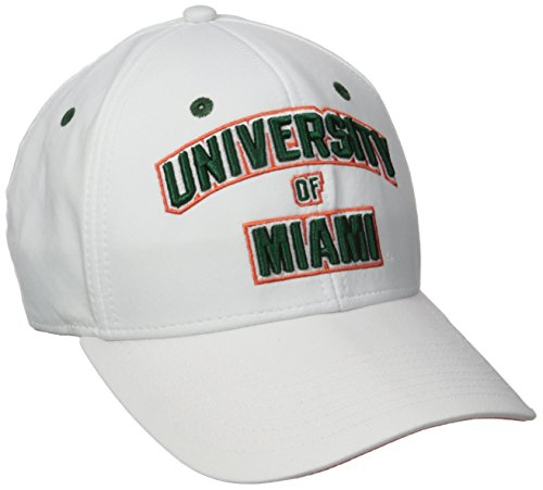 adidas NCAA Miami Hurricanes Fanwear White Structured Adjustable, One Size, White ()