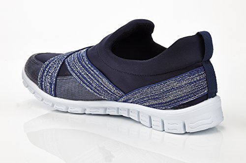 Womens Two Tone X-Strap Slip-On Sneaker Lisa Navy Qqrw7lqFY