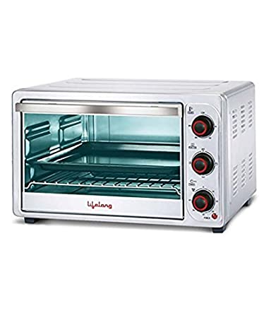 Lifelong 1500-Watt 26-Litre Oven Toaster Grill (Sliver) Oven Toaster Grills at amazon