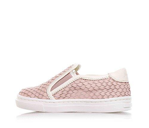 JARRETT - Pink Slipper aus Leder, durch die Benutzung hochwertiger Materialien und recherchiertes Leders gekennzeichnet, seitlich elastische Einsätze, Mädchen