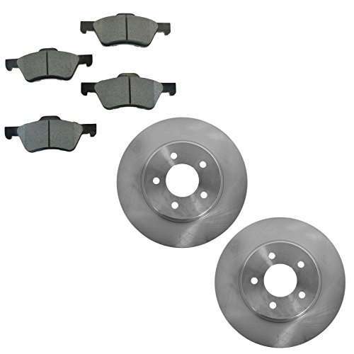 Posi Metallic Brake Pad & Rotor Front Kit for Ford Escape Mazda Tribute ()