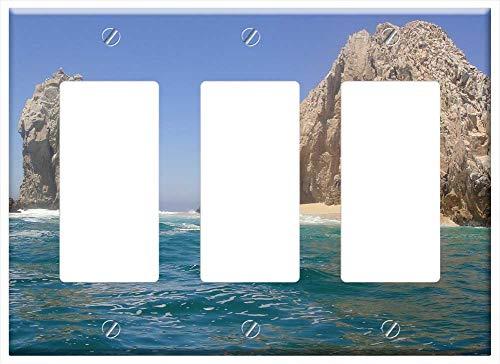 Switch Plate Triple Rocker/GFCI - El Arco Cabo Mexico Rock Formation Beach Ocean