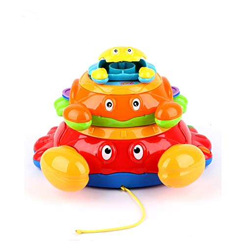Stacking crab toys,wholesaler battery traditional musical instrument -