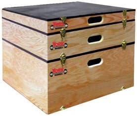 York usa-made apilable madera Plyo Box/Step-up caja Combo – 3,