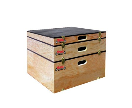 York USA-Made Stackable Wood Plyo Box / Step-Up Box Combo - 3'', 6'', 12'' Heights (Set of 3) - Wooden Plyometric Boxes by Ironcompany.com