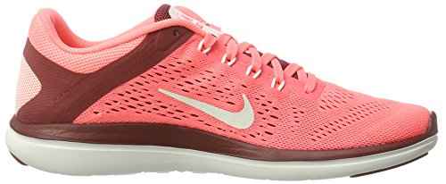 Nike Womens Flex 2016 Rn Joggesko Lava Glød / Seil / Sedertre / Summit Hvit