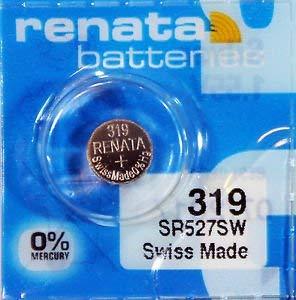 - Renata 319 Button Cell watch battery, 5 Batteries