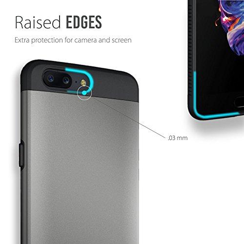OnePlus 5 Funda, Caja protectora TUDIA MERGE TAREA PESADA Protección EXTREME de doble capa para OnePlus 5 (Grafito) Grafito