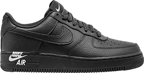 - Nike Mens Air Force 1 Low Emblem Shoes Black/White AJ9502-001 Size 12