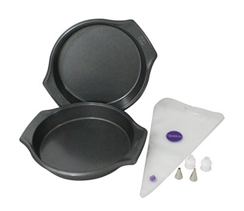 WILTON Bake-It-Better 9-Inch Cake Pans with Decorating Set