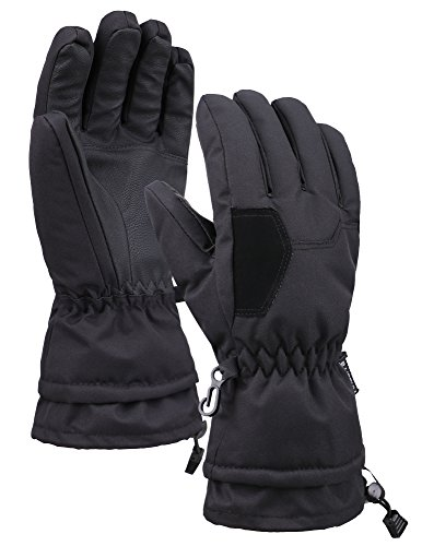 - Lullaby Kids Boys Girls Windproof Thinsulate Linging Winter Ski Gloves Black L