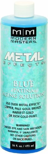 Aging Solution - Modern Masters PA902-16 Aging Solutions Blue Patina, 16-Ounce by Modern Masters