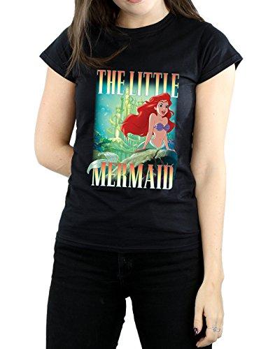 Noir T shirt Femme The Little Disney Ariel Mermaid Montage 8w0xqYZ