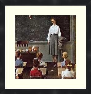 Norman Rockwell Teacher's Birthday poster print - framed Norman Rockwell Art