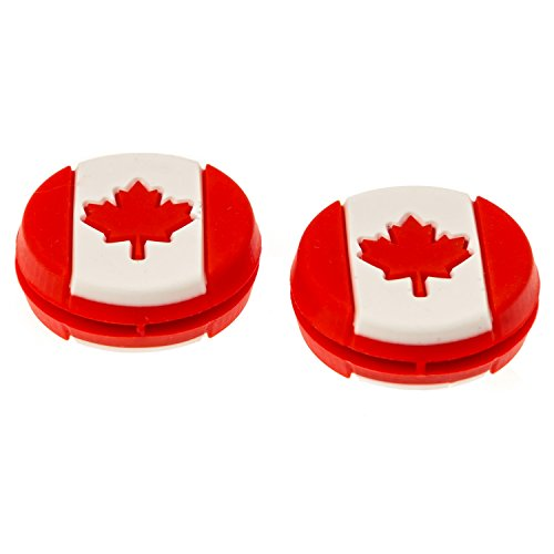 TennisGeek Canadian Flag Tennis Dampener (2 Pack) (Canada)