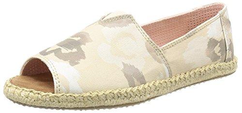 Toms - Alpargata Open Toe (natural Watercolor Floral) Women's Flat Shoes (Toms Flat Sandals)
