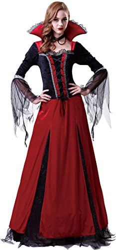 [Red Vampiress Adult Costume - Womens Small (0-4)] (Red Vampiress Adult Costumes)